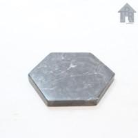 Marble coaster, tatakan marmer hexagonal