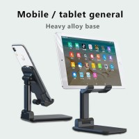 Folding Phone Holder Stand HP di Meja Folding desktop - Hitam