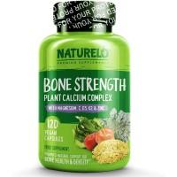 Naturelo Bone Strength Plant Calcium Complex isi 120 Capsules