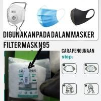Filter Masker Anti Virus Refill Masker Gasket Pad Mask Disposable Mask