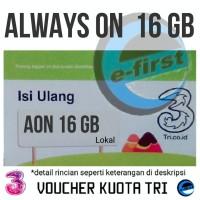 voucher isi ulang kuota internet data tri 3 three AON 16gb 16 gb