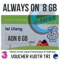 Voucher Tri AON isi ulang Three data kuota 8 Gb