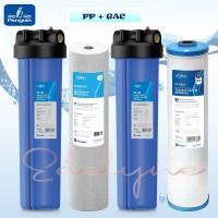 "Paket Filter Air Sumur / Tandon / Toren Penguin PBF 20"" PP + GAC"