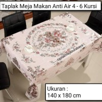 Taplak Meja Makan Mewah Anti Air 4 - 6 Kursi 140 x 180 cm Waterproof