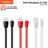 VEGER FAST Durable Data Cable USB Micro 2.4A VP-13 Quick charge 1000mm