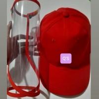 *Premium Quality* Topi Corona Raffel - Baseball hat - Topi Corona - Merah