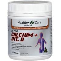 Healthy Care Ultra Calcium + Vitamin D 150 Tablet