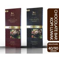WoCA Kopi Luwak Premium Chocolate Bar Dark or Milk