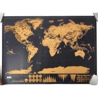 Poster Peta Dunia Hiasan Dinding Scratch Map