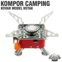 Kompor Kotak Kovar Portable - Kompor Camping Outdoor Gunung Berkemah