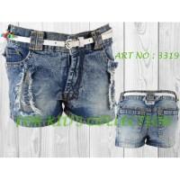 Celana pendek jeans anak perempuan Abstrak