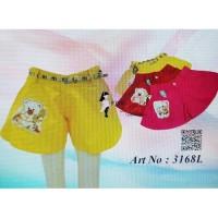 Celana pendek katun warna anak perempuan bear Sz 1-8