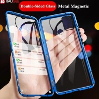 Magnetic Magnet Double Glass Front back Case Cover Samsung M30S