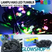 Lampu Tumblr Natal LED / Lampu Dekorasi w/end socket - Motif Kristal