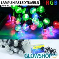 Lampu Tumblr Natal LED / Lampu Hias / Lampu Dekorasi - Motif Bola