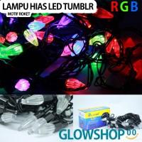 Lampu Tumblr Natal LED / Lampu Hias / Lampu Dekorasi - Motif Roket