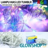 Lampu Tumblr Natal LED / Lampu Dekorasi w/end socket - Kabel Bening