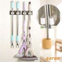 zri Self-Adhesive Seamless Stickers Mop Rack Kitchen Broom Rack Hooks
