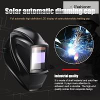 Cover Pelindung Wajah Dengan Kaca Gelap Otomatis Tenaga Surya Untuk