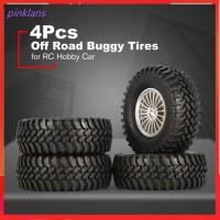 Universal 4pcs 1/10 Scale Off Road Buggy Tires Wheel Rims Set 12mm