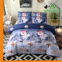 3 PCS Bedding Sets Happy Christmas Quilt Cover Pillowcase Miami