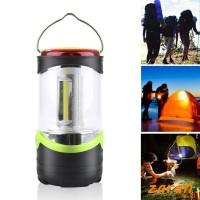 zri Multifunctional COB LED camping flashlight mini tent 3modes lights