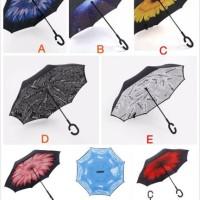 Kazbrella Reverse Umbrella / Payung Terbalik Gagang C Motif Origi