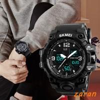 zri SKMEI Adult Double Time Watch 50M Waterproof Luminous Sport Watch