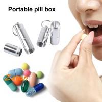 zz drug storage box with key chain portable 4 sets of kits waterproof