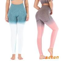 zri Women Fitness Gradient Yoga Leggings High Waist Running Sport