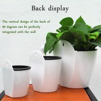 Pot Bunga Gantung Dinding Otomatis Kreatif Untuk Dekorasi Rumah /
