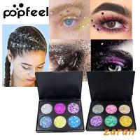 zri Popfeel 6 Colors Diamond Glitter Eye Shadow Shiny Pressed Palette