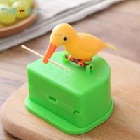 Kotak Dispenser Tusuk Gigi Otomatis dengan Bentuk Burung