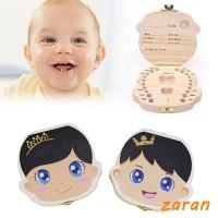 zri Wooden Kids Tooth Box Organizer Teeth Storage Box Boy Girl Holder