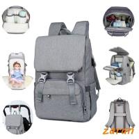 zri Shoulder Mummy Bag Multi-Function USB Large Capacity Diaper Bag