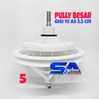 Gear Box PULLY BESAR As Gigi 10 3,5 Cm Model Sharp Polytron Mesin Cuci