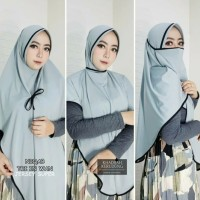 Jilbab Instan niqab Sharmila Jilbab Ayana Cadar Jersey Jilbab 3in1 - Black
