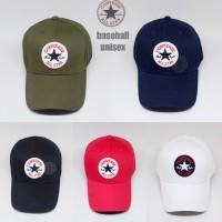 topi baseball CONVERSE all star logo 5 warna UNISEX ( FREE BOX ) - Putih