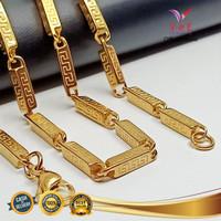 Kalung Titanium Stainless Asli Batangan 75cm - VeE Kalung Pria Wanita