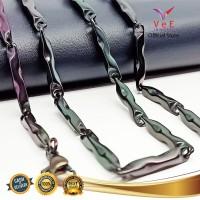Kalung Titanium Hitam Asli Batangan 75cm - VeE Kalung Pria Wanita