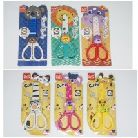 School Cartoon Scissors/Gunting Kartun Scissors 128mm w/sleeve