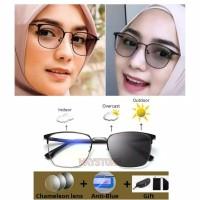 Kacamata Anti Radiasi blue Ray Photocromic berubah warna