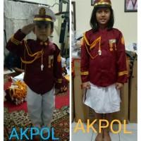 Baju/kostum/stelan profesi AKPOL anak2 suze 1-4 (tk)