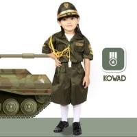 Baju/kostum/stelan profesi TNI AD/KOWAD anak suze 1-4 (tk)