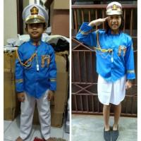 Baju/kostum/stelan profesi AKABRI anak2 size 1-4 (tk)