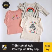 Baby Gap Original T-Shirt Baju Anak Perempuan Lengan Panjang 1-5 tahun