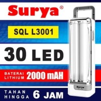 Emergency Lamp Surya SQL L3001 Lampu Darurat Flash Light 30 LED L-3001