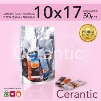 Standing Pouch Kombinasi Plastik Aluminium Foil 10x17 - 200gr Premium