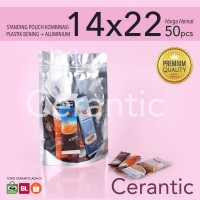 Standing Pouch Kombinasi Plastik Aluminium Foil 14x22 - 600gr Premium