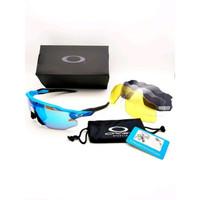 Big Sale kacamata gowes sepeda oakley radar ev advancer blue